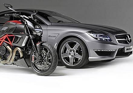 AMG и Ducati се срещнаха на пътя – видео
