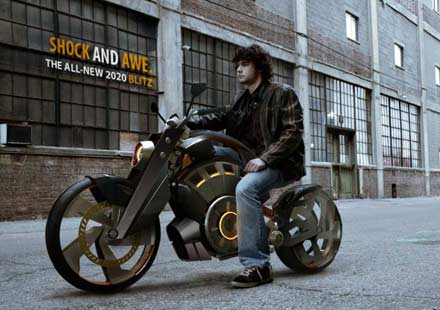 Blitz- електрически байк с вид на Harley