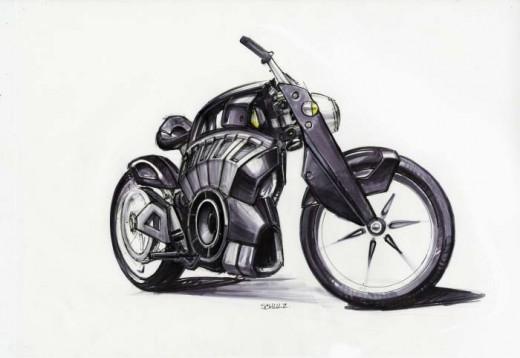Blitz - електрически байк с вид на Harley 2