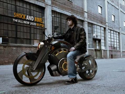 Blitz - електрически байк с вид на Harley 3