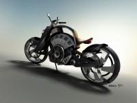 Blitz - електрически байк с вид на Harley 5