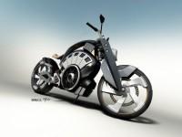 Blitz - електрически байк с вид на Harley 6