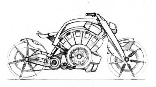 Blitz - електрически байк с вид на Harley 8