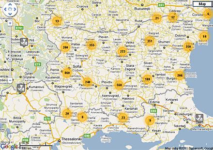 Камери, радари, стоянки на КАТ в България