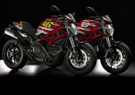 Духът на Роси в Ducati Monster