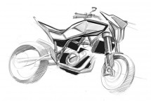 Скици на шосейния 900 кубиков нейкид мотор на Husqvarna 02