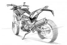 Скици на шосейния 900 кубиков нейкид мотор на Husqvarna 04