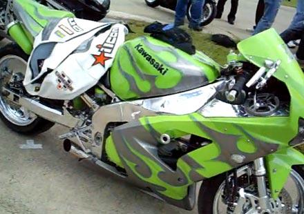 Kawasaki Ninja с нитро и тонколони