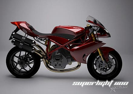 Концепцията Ducati Superlight 1100