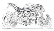Скици на 2012 Ducati Streetfighter 01