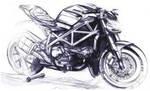 Скици на 2012 Ducati Streetfighter 02