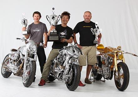 Световните шампиони в фриистайл надпревара за най-добър къстъм мотор