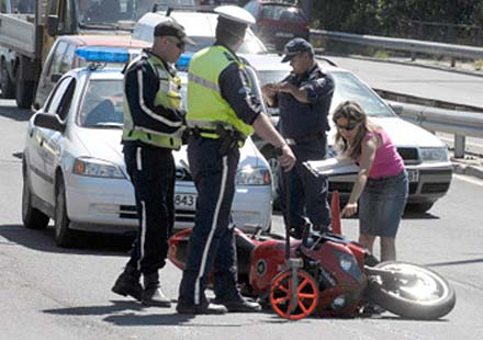 Моторист-беглец с опит да се измъкне от КАТ
