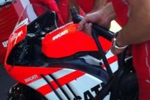 Алуминиево шаси за Валентино Роси на MotoGP Арагон 03