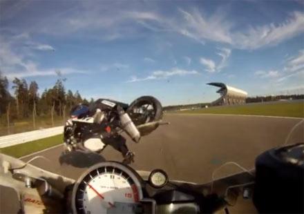 Откачен инцидент с мотоциклет BMW S1000RR на Хокенхайм