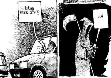 Писането на SMS-и по време на шофиране удвоява времето за реакция