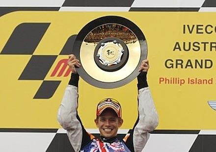 """Кейси Стоунър – шампион в MotoGP след великолепна победа на """"Филип Айлънд"""""""