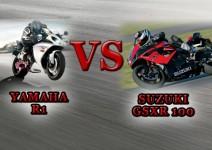 Сравняване на мотоциклети Yamaha YZF-R1 и Suzuki GSXR 1000 01