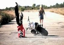 Уникален дрифт с мотоциклет