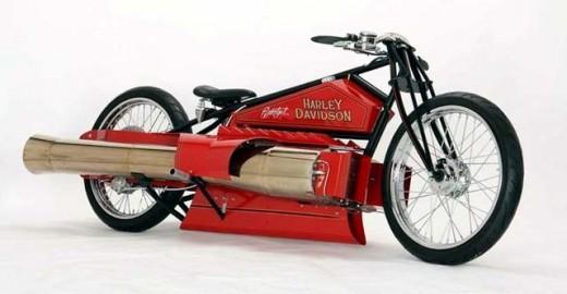 Продава се Harley с два реактивни мотора