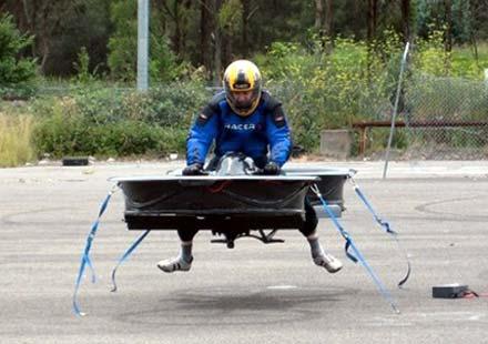 Първият летящ мотоциклет в света