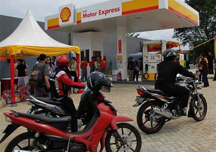 Бензиностанция само за мотоциклети – Shell Motor Express