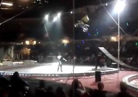 Моторист почти загина в цирково изпълнение