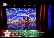 """Стънт моторист в """"България търси талант"""""""