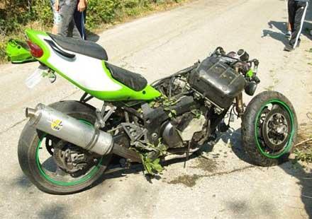 Отново катастрофа с мотоциклет в казанлъшко