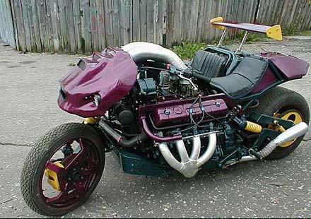 WTF! V8 мотор с кош и крило от F1