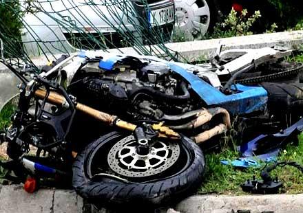 Верижна катастрофа с мотоциклети