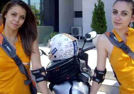 Рекламират джакпота с мотористи