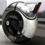 Мотоциклет с една гума, която е и кабина 03