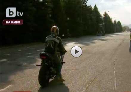 Световен рекорд на българин – най-бързо и най-дълго каране на предна гума