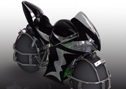 Мотоциклет със сферични колела