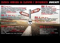 Първа обиколка на България с Мотоциклети Ducati