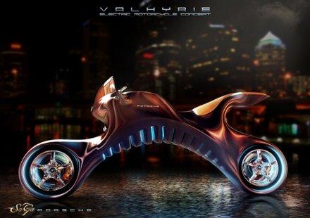 Електрически мотоциклет се вдъхнови от Porsche 911
