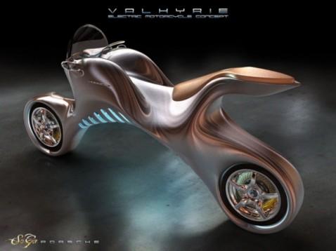 Електрически мотоциклет се вдъхнови от Porsche 911 01
