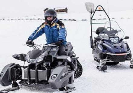 Triazuma Snow – версия снегоход на Wazuma ATV