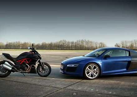 Ducati Diavel срещу Audi R8 V10
