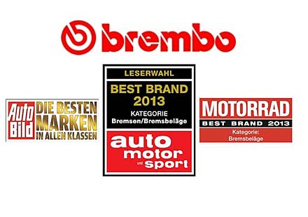 Най-добра марка на 2013: BREMBO