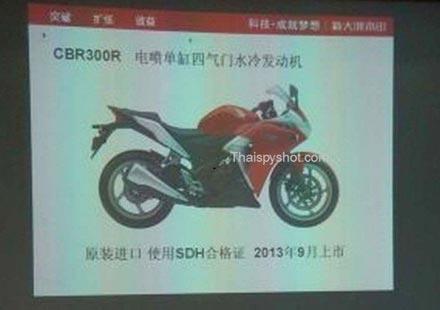 Honda ще пуска CBR300R
