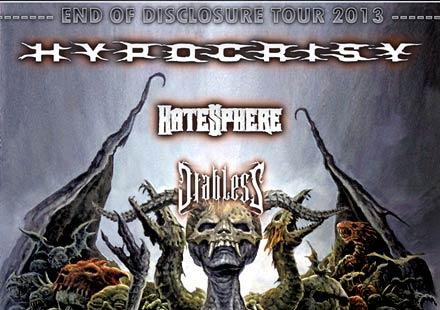 Hypocrisy, Hatesphere, Diabless – Последни новини за концерта