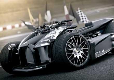 Французи създадоха квадроциклет с V8 от Ferrari