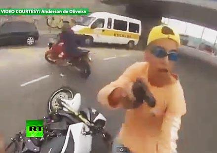 Как се краде мотор в Бразилия и какво се случва с крадците там!